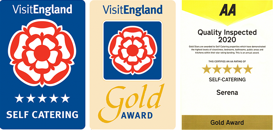 Visit England and AA 5-star Gold awards
